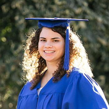 maya cap gown at graduation